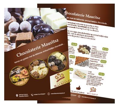 flyer sjabloon chocolaterie Mauritsz